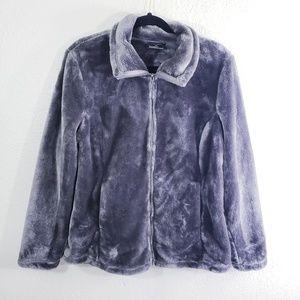 32 degrees Heat Gray Faux Fur Jacket Size XL